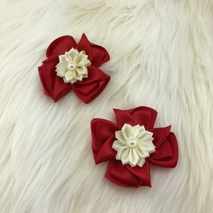 Accessories - Flower Headband with nice flower ribbon clips